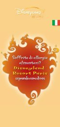 Soffrite di allergie alimentari? - Disneyland® Paris