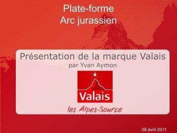 L'exemple de la marque Valais - Arc Jurassien