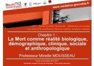 La Mort comme réalité biologique, démographique, clinique, sociale ...