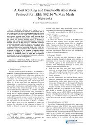A Joint Routing and Bandwidth Allocation Protocol for IEEE ... - IJET