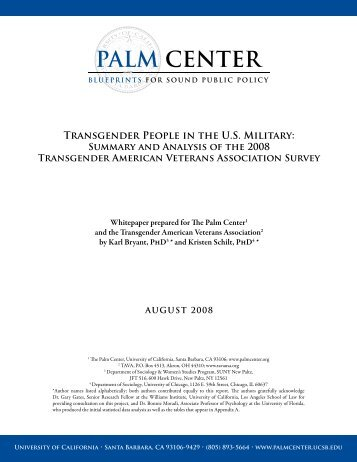 Transgender People in the US Military: Summary and ... - Palm Center