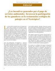 Editorial Â¿Los incentivos generados por el pago de servicios ... - Catie