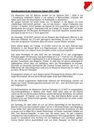 Abschlussbericht der Altsenioren Saison 2007 ... - Architektgross.de