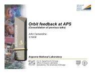 Orbit feedback at APS - DocDB