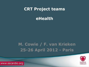 e-Health update - Cardiovascular Round Table (CRT)