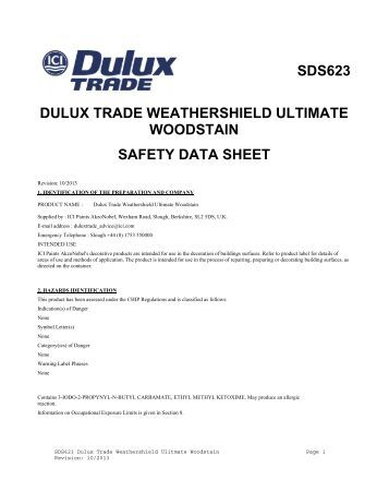 Ici Paints Safety Data Sheet Uk Date 07