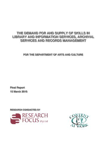 Final Report - National Archives of South Africa