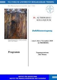 Programm - Institut für Geotechnik und Markscheidewesen - TU ...