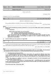 Cap 6E - PROOF OF DEBTS RULES