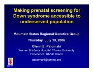 Making prenatal screening for Down syndrome accessible to ...