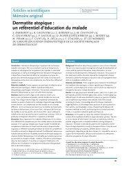 Dermatite atopique : un référentiel d'éducation du malade - Ipcem