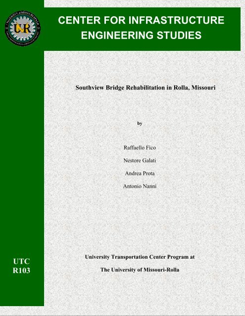 CENTER FOR INFRASTRUCTURE ENGINEERING STUDIES
