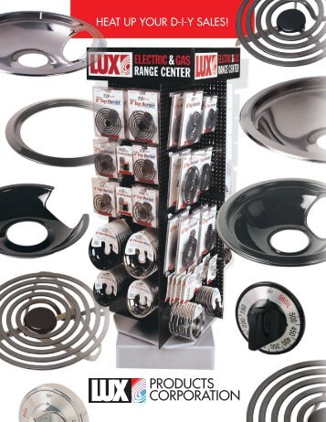 Download the Lux Electric and Gas Range Center Catalog Here!