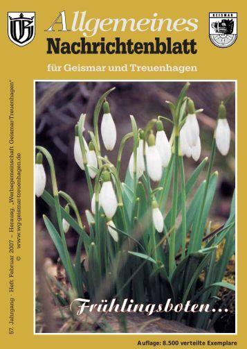 Allgemeines - Werbegemeinschaft Geismar-Treuenhagen