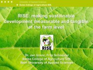 RISE: making sustainable development measurable and tangible at ...