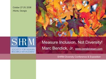 Manage Employer Inclusion, Not Employee ... - Bendickegan.com