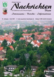 Nachrichten - Werbegemeinschaft Geismar-Treuenhagen