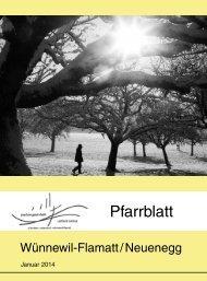 Pfarrblatt Januar 2014 - Pfarrei Wünnewil-Flamatt