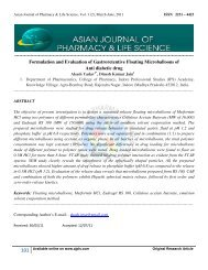 View - Asian Journal of Pharmacy and Life Science