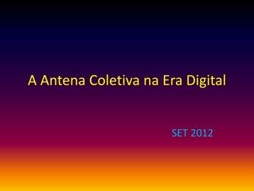 A Antena Coletiva na Era Digital - SET