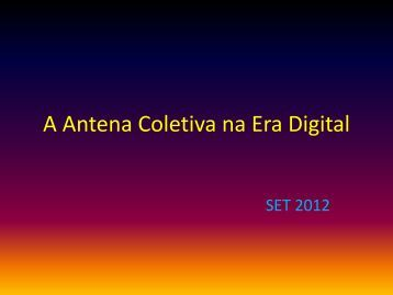 A Antena Coletiva na Era Digital - SET