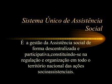SUAS-Sistema Único de Assistência Social - AMAVI