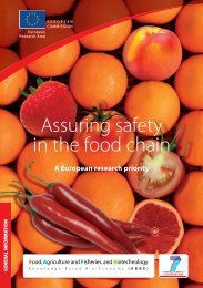 Assuring safety in the food chain - A European research ... - Europa