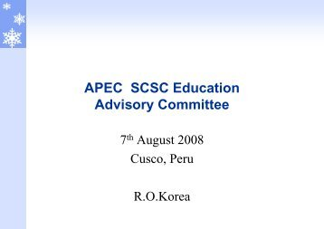 Textbook Development - APEC Standards Education Initiative