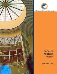 2010 Focused Midterm Report - Orange Coast College