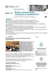 UCA i+T Boletín mensual sobre innovación y transferencia