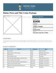 Dubai Vacation, Jordan & Egypt Nile Cruise - Memphis Tours Egypt