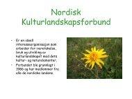 Nordisk Kulturlandskapsforbund