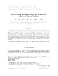 A study of time integration schemes for the numerical modelling of ...