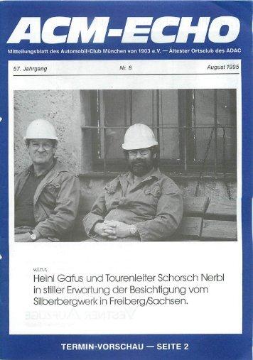 in stiller Erwartung der Besichtigung vom Silberbergwerk in Freiberg ...