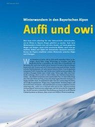 Winterwandern in den Bayerischen Alpen - Deutscher Alpenverein