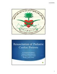 Resuscitation of Pediatric Cardiac Patients - RM Solutions