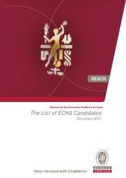 ECHA Candidate List - Bureau Veritas