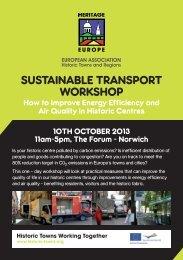 Sustainable Transport - European Association of Historic Towns ...
