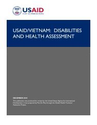 USAID/VIETNAM: DISABILITIES AND HEALTH ASSESSMENT