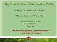 The Canadian Precipitation Analysis (CaPA)