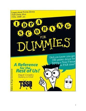 IDPA Scoring for Dummies
