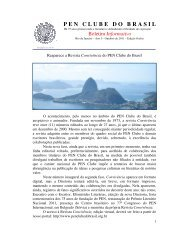 BOLETIM INFORMATIVO de Outubro de 2011 - PEN Clube do Brasil