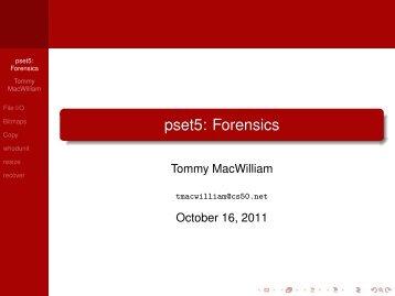pset5: Forensics