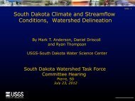 Report on Science needs in the Missouri River basin USGS