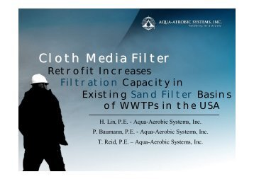 Cloth Media Filter Retrofit Increases Flitration Capacity in Existing ...