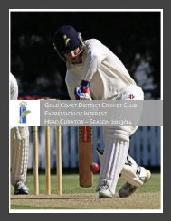 Gold Coast District Cricket Club - Queensland Cricket