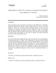 Male identities in conflict: The construction of masculinity in the ...