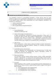 FÁRMACOS EN CARDIOLOGÍA 1 FÁRMACOS INOTRÓPICOS ...
