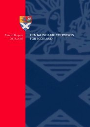 B31111 MWC text FINAL - Mental Welfare Commission for Scotland