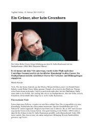 Portrait Robert Furrer - Grüne Kanton St. Gallen